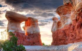 Обои природа, камни, скалы, сша, юта, долина монументов