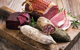 Картинка мясо, колбаса, балык