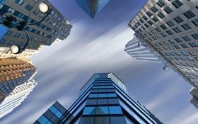 Картинка небоскреб, дома, Нью-Йорк, фонарь, США