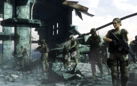 Картинка женщины, солдаты, наемники, fan art, Metal Gear Solid 4: Guns of the Patriots, metal gear ...