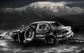 Картинка арт, романтика апокалипсиса, romantically apocalyptic, alexiuss, move over bitch