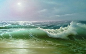 Картинка море, картина, виктор тисленко
