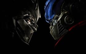 Обои трансформеры, робот, противостояние, transformers
