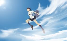 Обои прыжок, девочка покорившая время, The Girl Who Leapt Through Time, Toki o Kakeru Shōjo