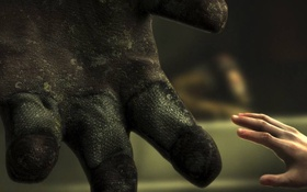 Обои girl, bioshock, hands, suit