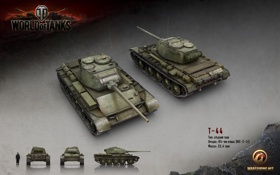 Обои Т-44, wargaming, World of Tanks