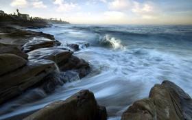 Обои море, пейзаж, камни