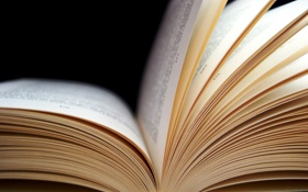 Картинка макро, текст, книга, страницы