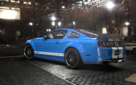 Картинка Shelby, GT500, Ubisoft, garage, Game, The Crew