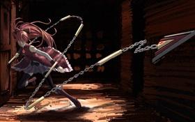 Картинка цепь, копье, Аниме, Mahou Shoujo Madoka Magica