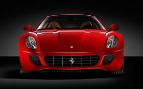 Картинка красный, Ferrari, черный фон