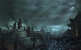 Обои англия, лондон, руин