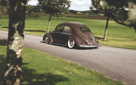 Картинка volkswagen, фольксваген, beetle, old, school, битл