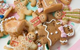 Обои праздник, печенье, рожицы
