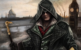 Обои Blaukralle, Jacob Frye, арт, syndicate, assassins creed, ассасин, Джейкоб Фрай