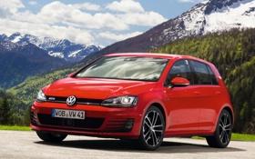 Обои Volkswagen, передок, Golf, Фольксваген, 5-door, Гольф, GTD