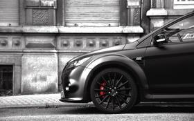 Обои морда, серость, Ford, Focus, RS500