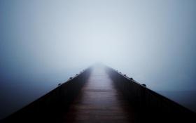 Картинка пустота, мост, туман, погода, Настроения