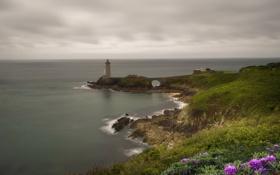 Картинка море, берег, маяк