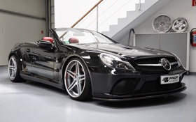 Картинка car, машина, tuning, 1920x1200, prior design, mercedes-benz sl r230 black edition