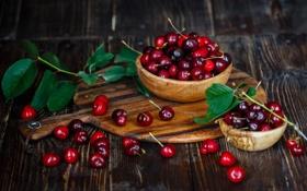 Картинка вишня, ягоды, натюрморт