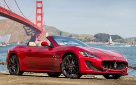 Обои мазерати, небо, авто, GranCabrio, Maserati, Сан-Франциско, мост