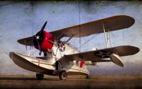 Обои стиль, фон, seaplane, grumman, J2F6 duck
