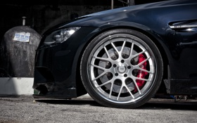 Обои чёрный, бмв, BMW, black, E92, 360 three sixty forged