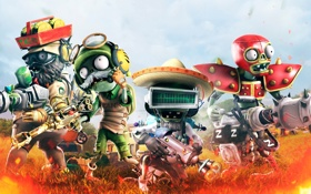 Обои Зомби, Electronic Arts, PopCap, Plants vs Zombies Garden Warfare