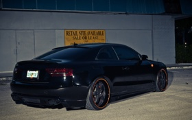 Картинка Audi, тюнинг, black, задок