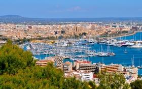Картинка город, фото, дома, Испания, Balearic Islands, Mallorca