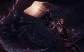 Обои воин, League of Legends, доспехи, Lucian, LoL, оружие, монстры