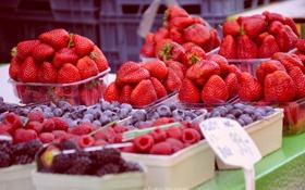 Обои ягоды, малина, еда, Чехия, клубника, красиво, вкусно