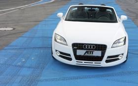 Картинка Audi, Белый, Машина, Лого, Капот, ABT, Передок