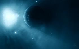 Обои свечение, вспышка, звезды, космос, планеты