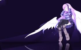 Картинка девушка, отражение, наушники, Angel