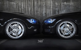 Обои BMW, e92, three sixty forged 360