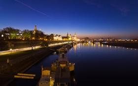 Картинка Германия, Дрезден, night, germany, dresden