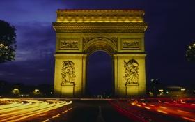 Картинка город, арка, достопримечательность