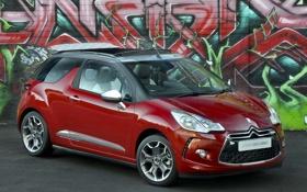 Картинка Citroen, авто, DS3, передок, граффити, Cabrio