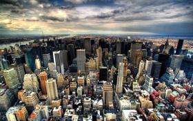 Обои город, мегаполис, восход