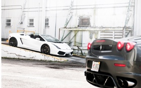 Обои тачки, Ferrari, gallardo, lamborghini, cars, auto wallpapers, авто обои