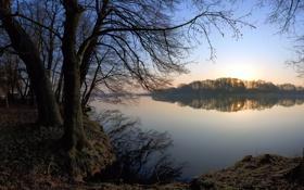Обои вода, деревья, фото, дерево, обои, пейзажи, красивые обои