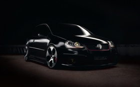 Обои темный фон, Volkswagen, GTI, MKV, MK5