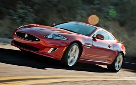 Обои красный, купе, Jaguar, XKR, Ягуар, суперкар, Coupe