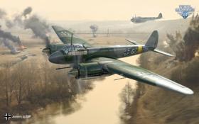 Обои Wargaming Net, World of Warplanes, Мир Самолетов, WoWP, Junkers Ju.88P