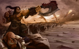 Картинка армия, World of Warcraft, орки, wow, dlc, warlords of draenor, Grommash Hellscream