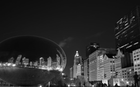 Обои city, небоскребы, USA, америка, чикаго, Chicago, сша