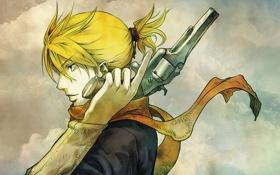 Обои человек, револьвер, блондин
