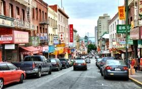 Картинка Калифорния, Сан-Франциско, California, San Francisco, Chinatown